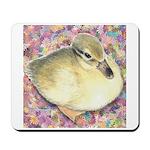 Snowy Mallard Duckling Mousepad