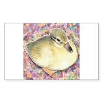 Snowy Mallard Duckling Rectangle Sticker