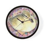 Snowy Mallard Duckling Wall Clock