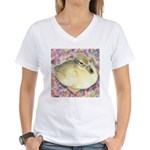 Snowy Mallard Duckling Women's V-Neck T-Shirt