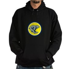 Grizzly Bear Running Circle Cartoon Hoodie