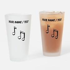 Custom Eighth Notes Drinking Glass