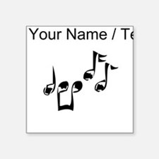 Custom Music Notes Sticker