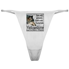 Take Only Pictures, Leave Onl Classic Thong