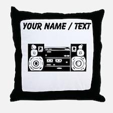 Custom Boombox Throw Pillow