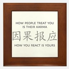 How You React Is Yours Framed Tile
