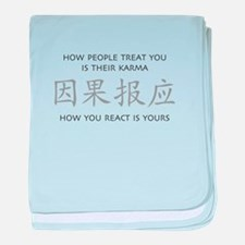 How You React Is Yours baby blanket