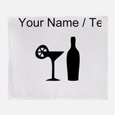 Custom Cocktail Throw Blanket