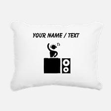 Custom DJ Booth Rectangular Canvas Pillow