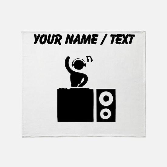 Custom DJ Booth Throw Blanket