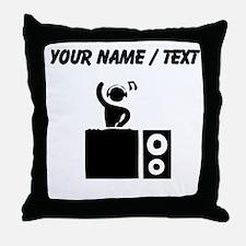 Custom DJ Booth Throw Pillow