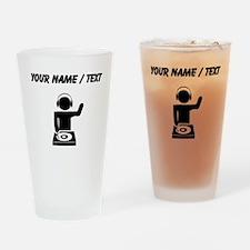 Custom Music DJ Drinking Glass