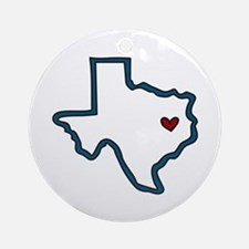 Texas Ornament (Round)