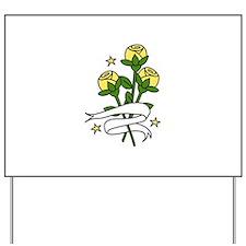 Texas Roses Yard Sign