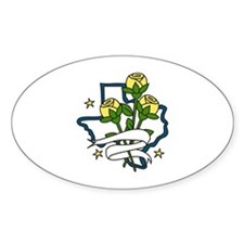 TEXAS Yellow Roses Decal