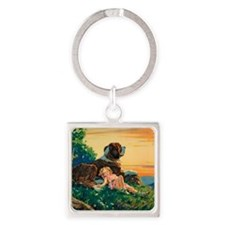 Template All Horizontal Square Keychain