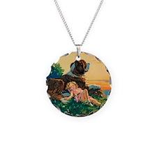 Saint Bernard Watercolor Necklace