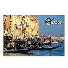 Venetian gondoliers Postcards (Package of 8)