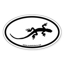 Gecko Oval Car Decal