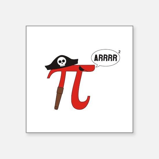 Pi R Squared Sticker