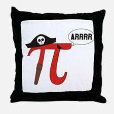 Pi R Squared Throw Pillow