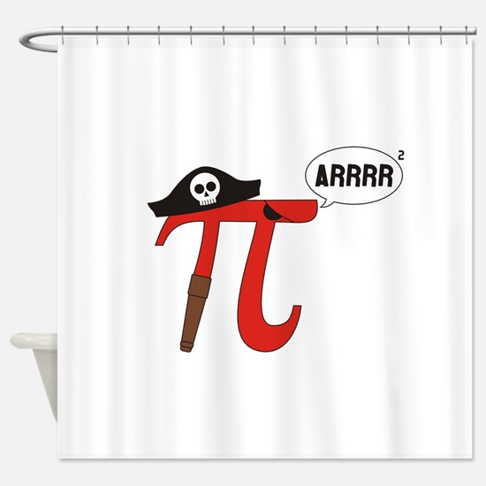 Pi R Squared Shower Curtain
