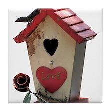 birdhouse 3 Tile Coaster