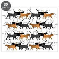 Procession of cats pattern Puzzle