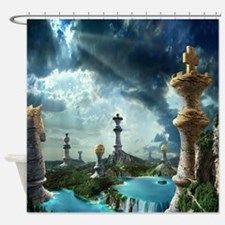 Chess Relics Shower Curtain