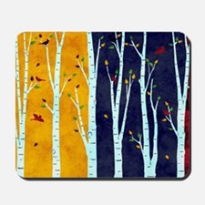 Birch forest Mousepad