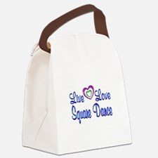Live Love Square Dance Canvas Lunch Bag