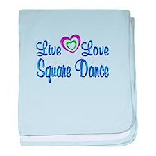 Live Love Square Dance baby blanket