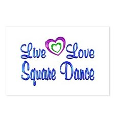 Live Love Square Dance Postcards (Package of 8)