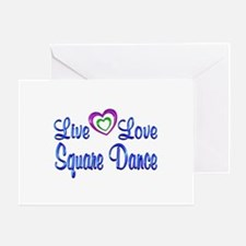 Live Love Square Dance Greeting Card