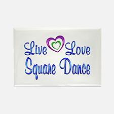 Live Love Square Dance Rectangle Magnet