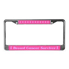Antsy Breast Cancer Survivor License Plate Frame