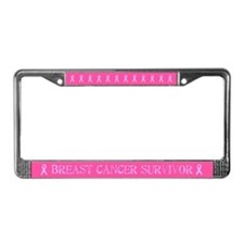 Stamp Breast Cancer Survivor License Plate Frame