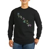 Flowers Long Sleeve T-shirts (Dark)