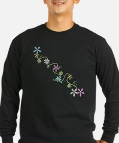 Flowers-transparent-tee Long Sleeve T-Shirt