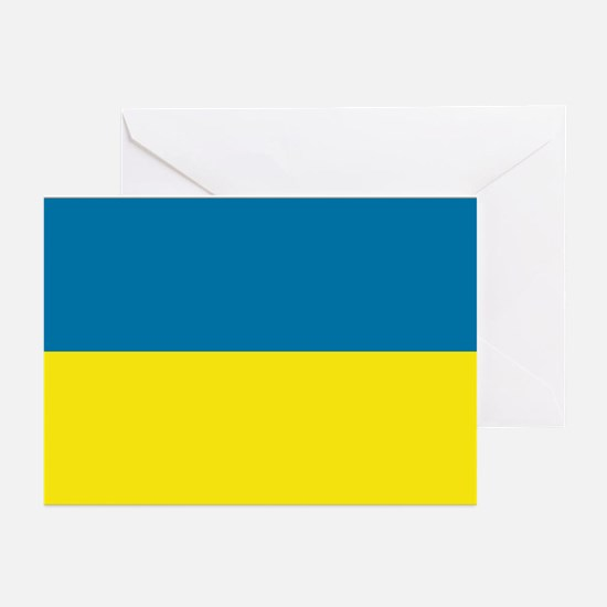 Ukranian flag Greeting Cards (Pk of 10)