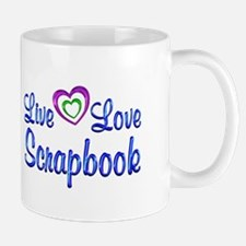 Live Love Scrapbook Small Mugs