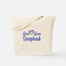 Live Love Scrapbook Tote Bag