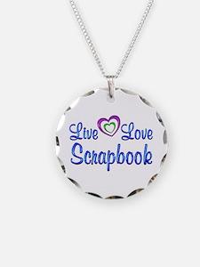 Live Love Scrapbook Necklace