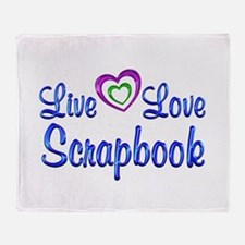 Live Love Scrapbook Throw Blanket