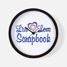 Live Love Scrapbook Wall Clock