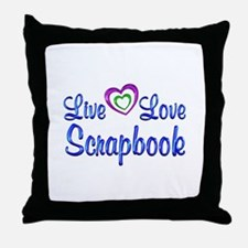 Live Love Scrapbook Throw Pillow