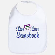 Live Love Scrapbook Bib