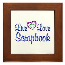 Live Love Scrapbook Framed Tile