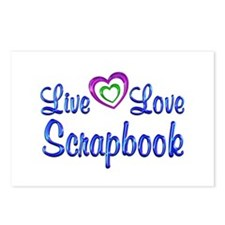 Live Love Scrapbook Postcards (Package of 8)
