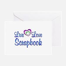 Live Love Scrapbook Greeting Card
